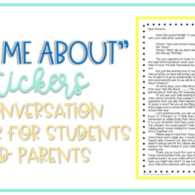 Ask Me About Stickers: A Conversation Starter for Students and Parents