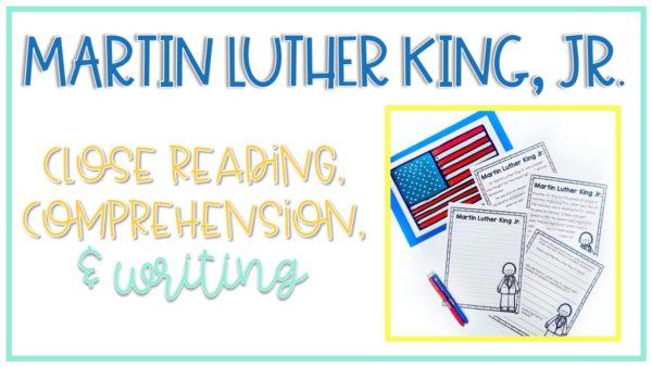 MLK Close reading and writing activities