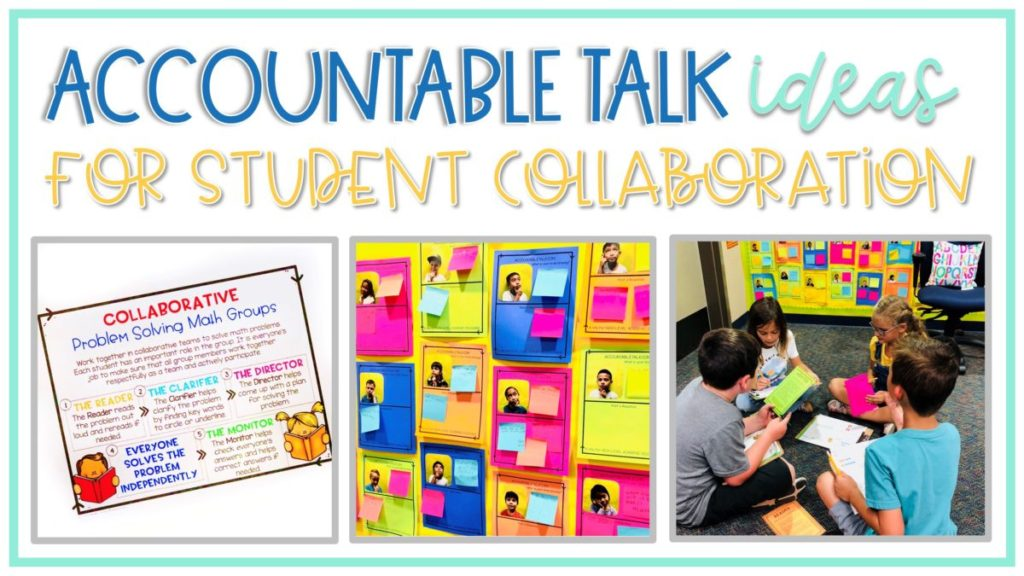 tips and ideas for student collaborative talks