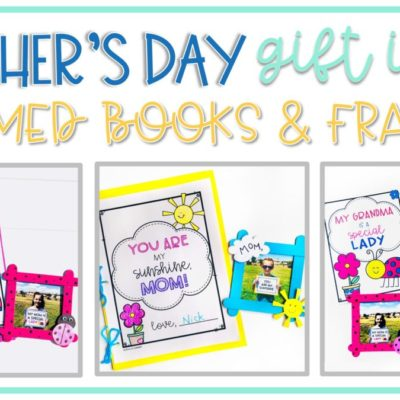 Mother's Day Gift Idea: Book & Photo Frames for Mom, Stepmom, Grandma, or Aunt