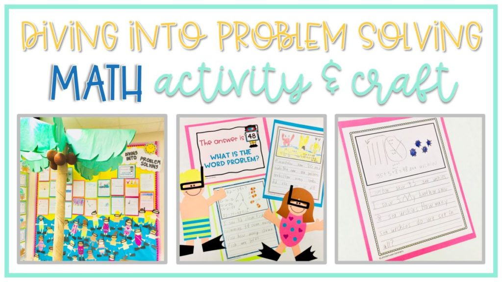 diving into problem solving snorkeling theme math craft and writing activity
