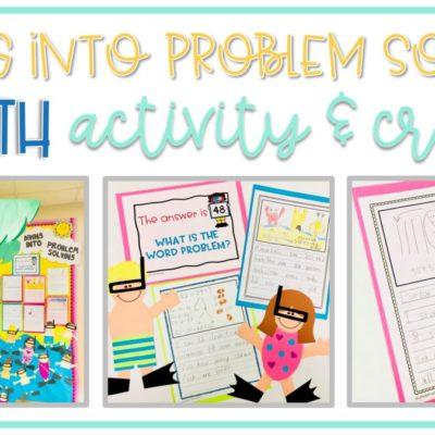 Diving Into Problem Solving: Beach Themed Math Activity & Snorkeler Craft