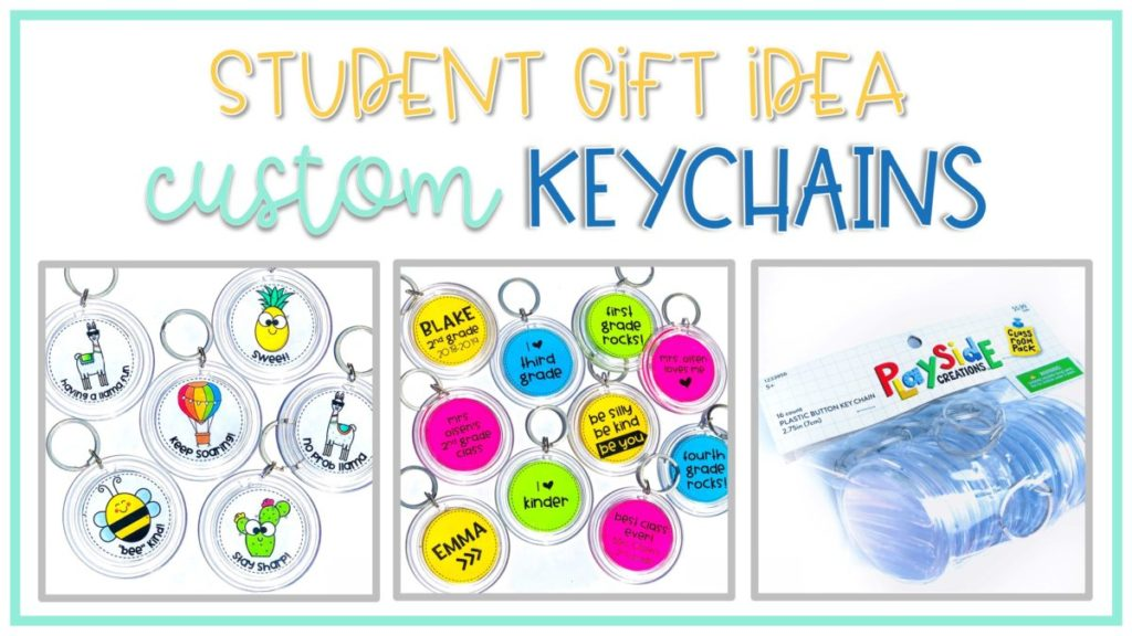 customized and personalized keychains make great gifts for students and are perfect for back to school, holidays, end of the year or all year long