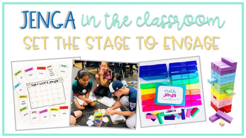 Use Jenga Games to engage students in math practice