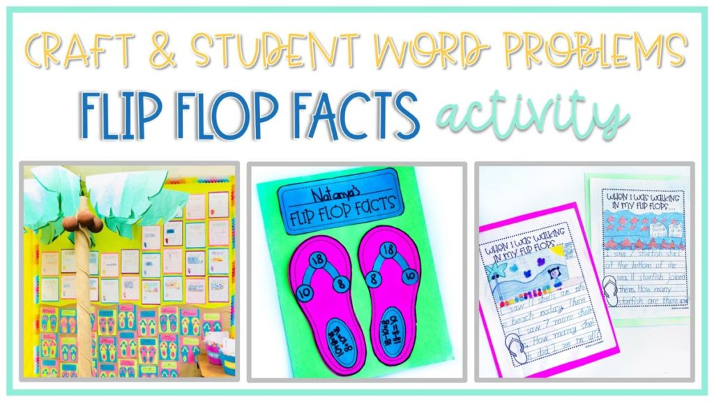 Fun flip flop themed activities for practicing the commutative property of addition
