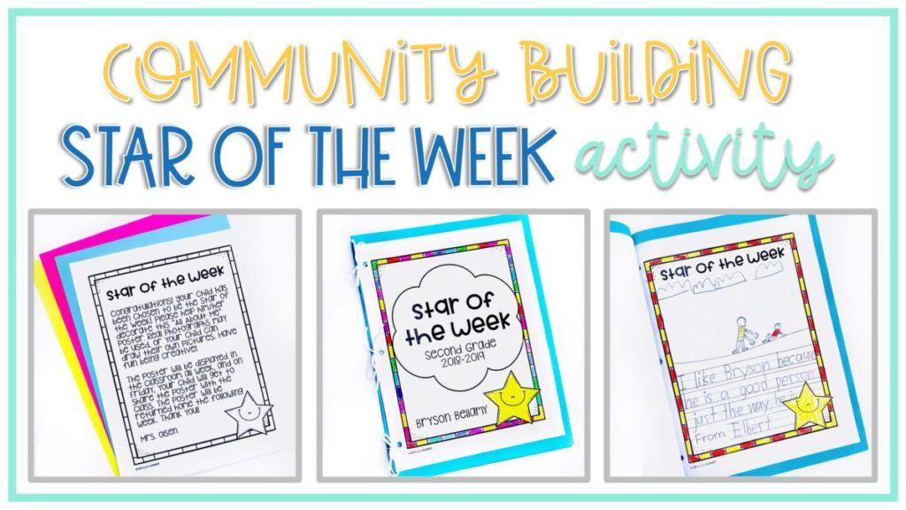 Star of the Week Community Building Activity for the Classroom