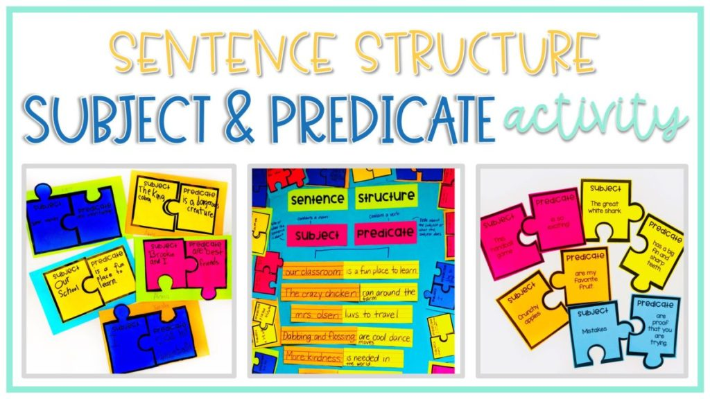 interactive subjects and predicates lesson