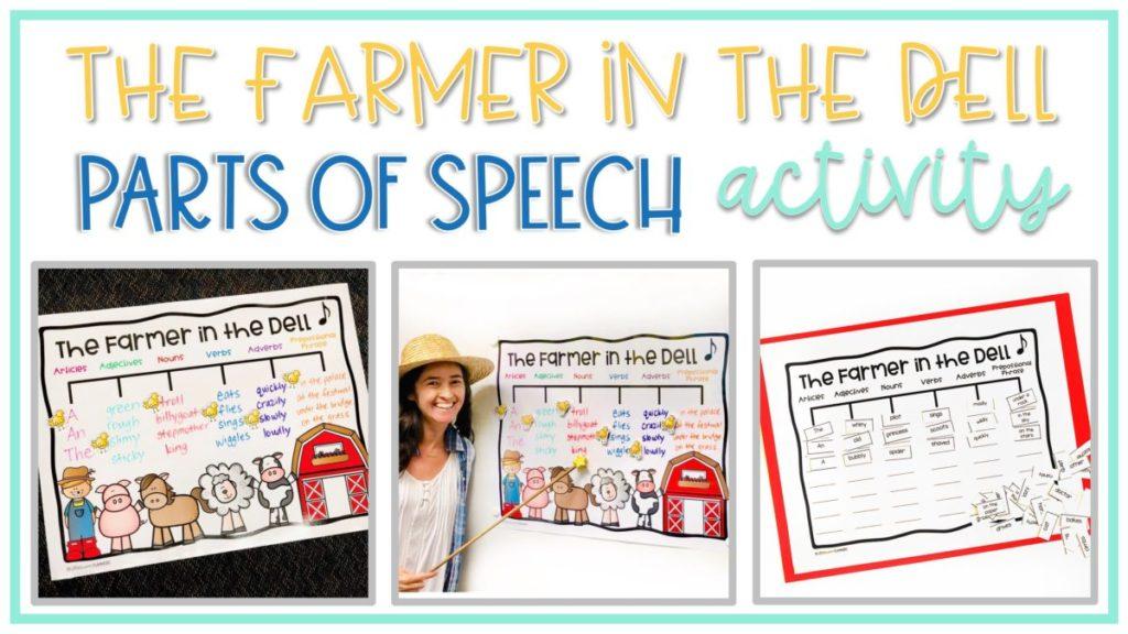 farmer in the dell parts of speech grammar activity