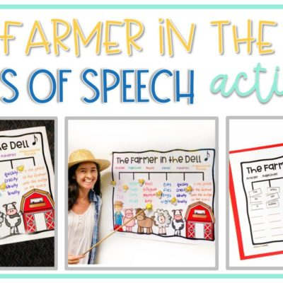 """""""The Farmer in the Dell"""" Parts of Speech Activity"""