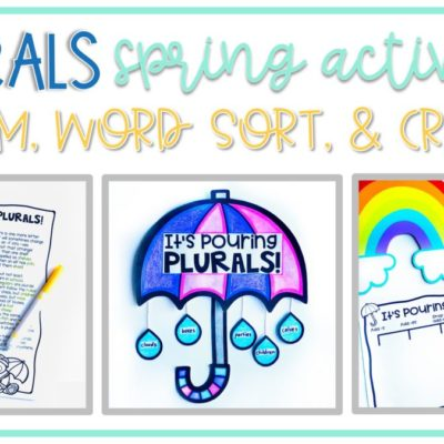 Spring Activities for Plural Nouns