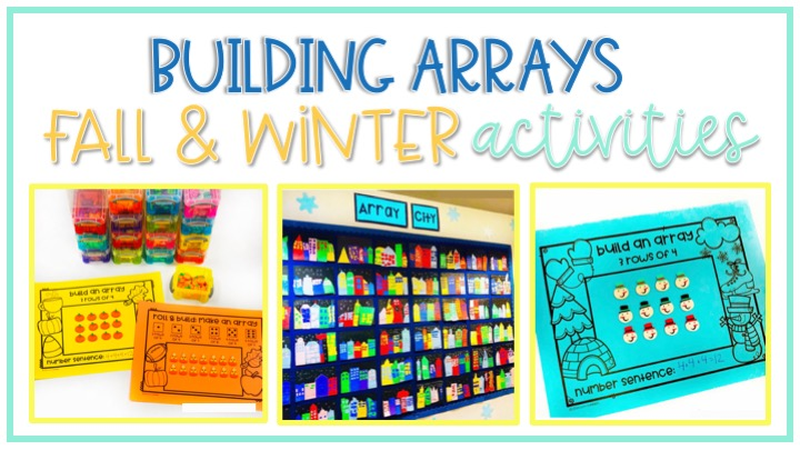 early multiplication skills activities including building arrays and repeated addition