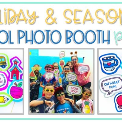 Holiday and Seasonal School Photo Booth Props for the Classroom