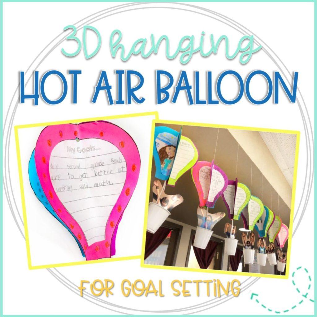 hot air balloon writing project