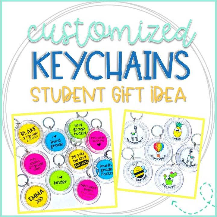 customized and personalized keychains for student gifts