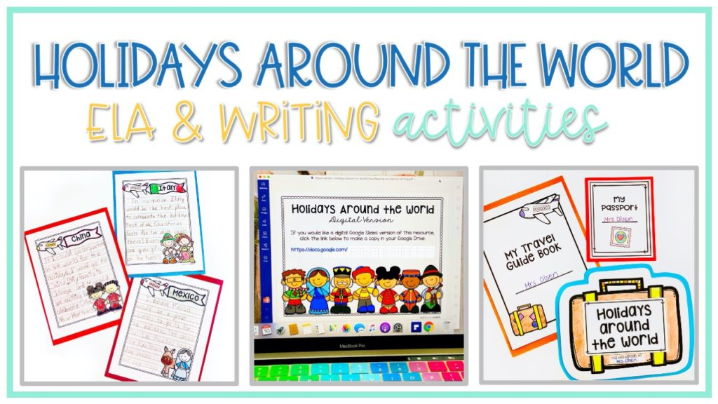 close reading and writing activities for hol