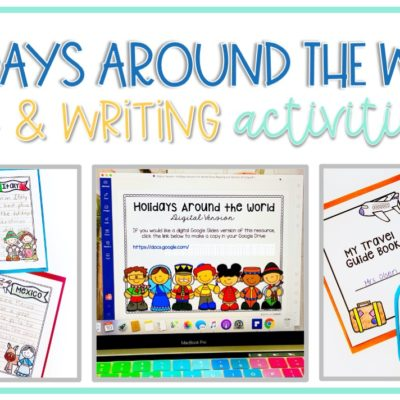 Holidays Around the World Activities for Close Reading and Opinion Writing