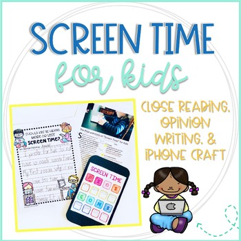 screen time close reading and writing