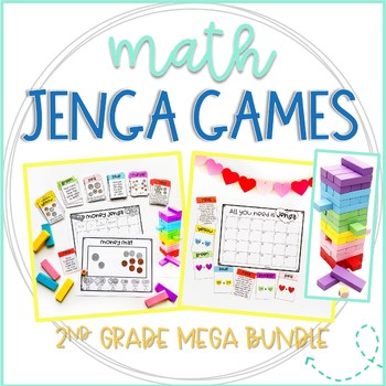 Jenga Math Games for Second Grade Mega Bundle