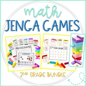 Jenga Math Games for 2nd Grade