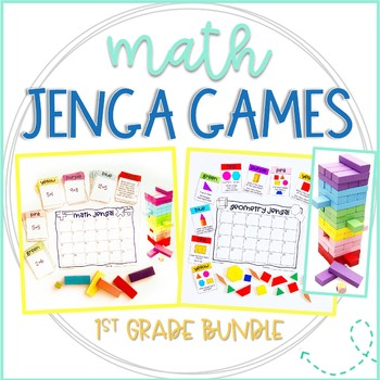 Jenga Math Games for 1st grade