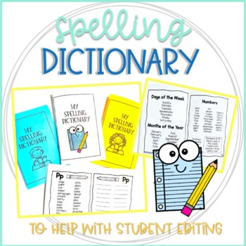 Personal Spelling Dictionary for Student Editing