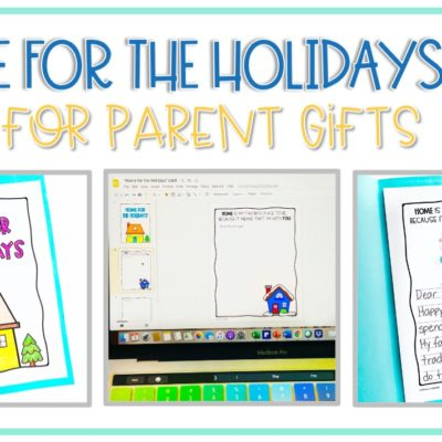 """""""Home for the Holidays"""" Holiday Cards for Parent Gifts"""
