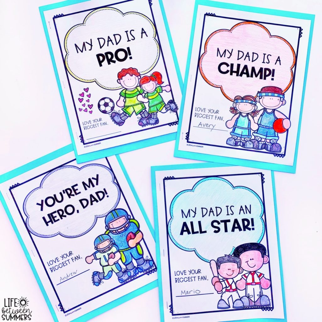 Sports themed Father's Day gifts book covers