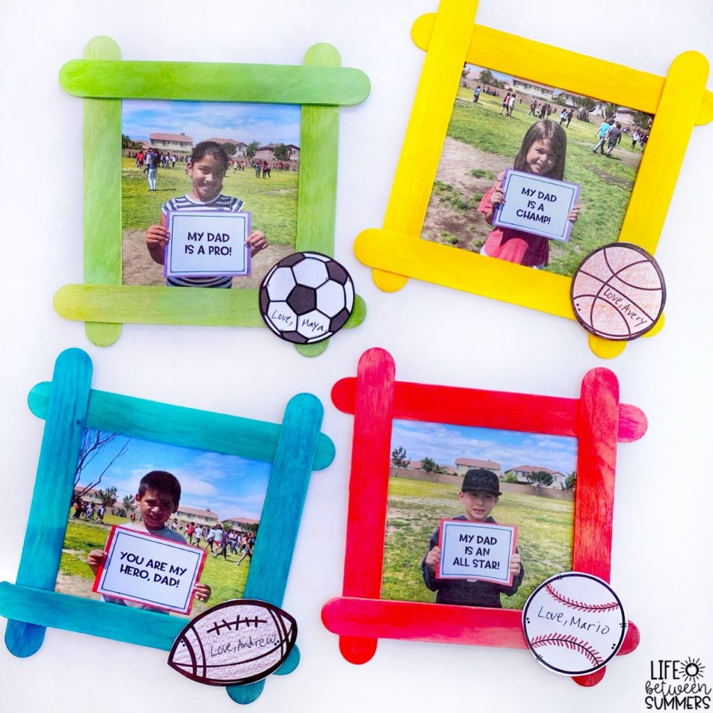 Sport themed Father's Day gifts picture frames