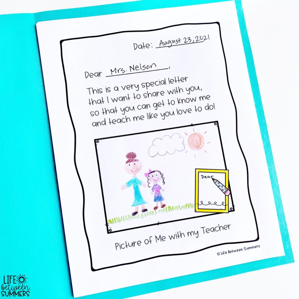 A Letter From Your Teacher book companion illustration of student with teacher