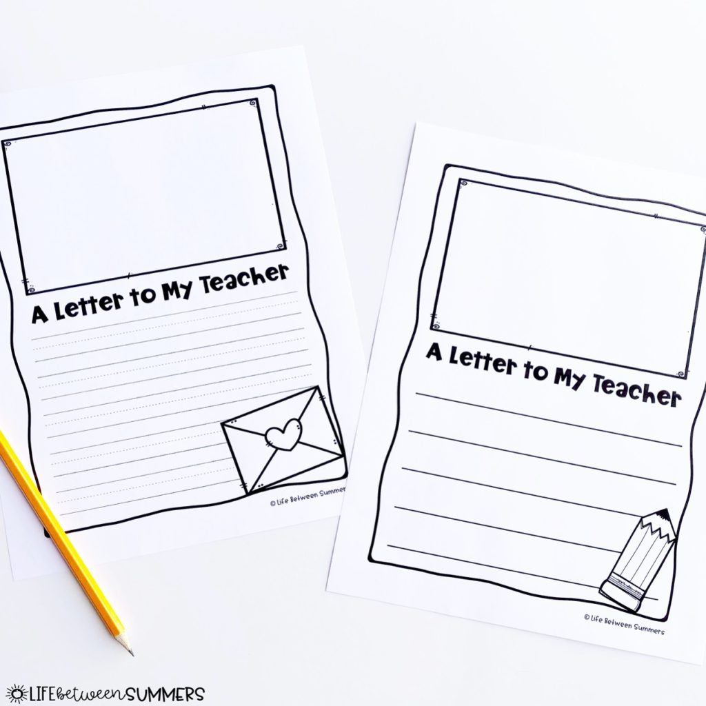 Letter writing paper for a literacy center.