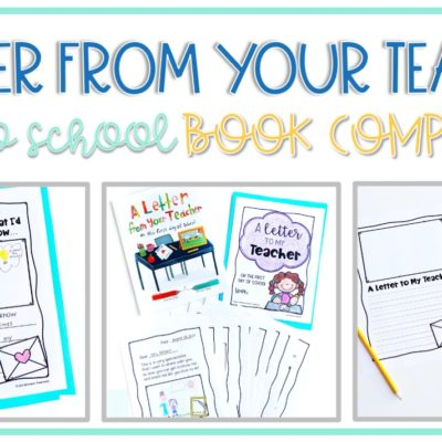 Back to School Activities: A Letter From Your Teacher Book Companion