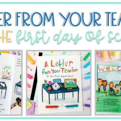 First Day of School Books: A Letter From Your Teacher