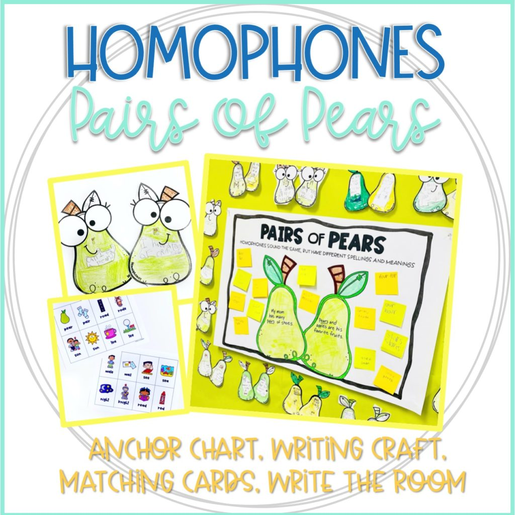 Homophones Pairs of Pears resource from Life Between Summers
