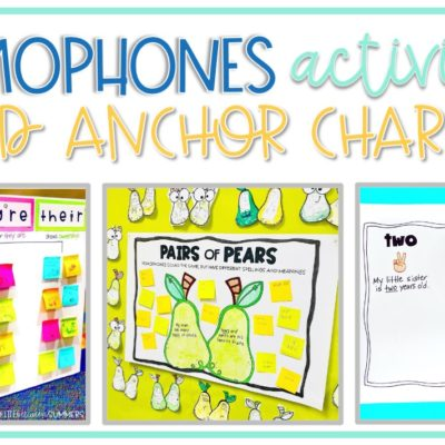 Homophones Activities and Anchor Charts