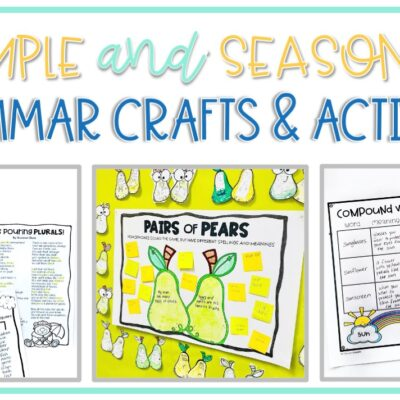 Simple Grammar Crafts and Activities for Every Season